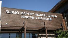 Baptist Medical Group Primary and Walk-In Clinic. BMG Family Physicians Group primary health care providers Royalty Free Stock Photo