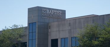 Baptist Memorial Hospital, Memphis Tennessee Photo libre de droits
