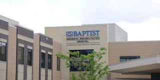 Baptist Memorial Rehabilitation Hospital Sign Memphis Tennessee royaltyfria foton