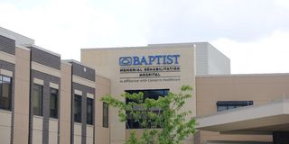 Baptist Memorial Rehabilitation Hospital Sign, Memphis Tennessee Royalty Free Stock Photos