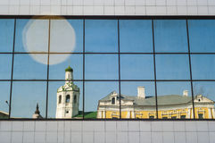 Baptist monastery in the reflection. Day, Kazan, Republic of Tatarstan, Russia Royalty Free Stock Images