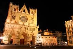 baptiste de la mezclilla del santo de la catedral, Lyon, Francia Imagenes de archivo
