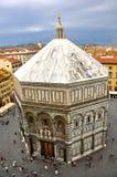 Baptisterio de Florencia imagen de archivo