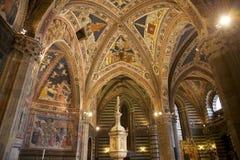Baptisterio de San Giovanni, Siena, Toscana, Italia Foto de archivo