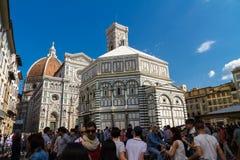 Baptisterio editorial de San Juan en Florencia, Italia Foto de archivo