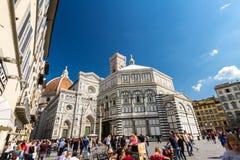Baptisterio editorial de San Juan en Florencia, Italia Fotografía de archivo libre de regalías