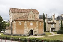 Baptisterio en Poitiers, Francia Foto de archivo