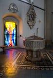baptisterium kyrkliga vienna fotografering för bildbyråer