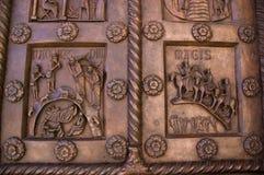 baptisteriumdörrar italy pisa Fotografering för Bildbyråer