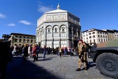 Baptistery święty John na piazza Del Duomo Fotografia Royalty Free