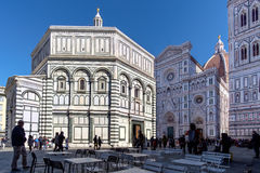 Baptistery święty John na piazza Del Duomo Zdjęcie Royalty Free