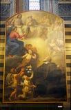 Baptistery av San Giovanni, Siena, Tuscany, Italien Arkivfoton