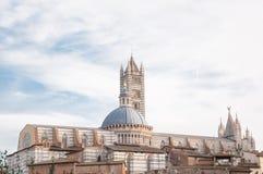 Baptistery av Siena Arkivbilder