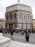 Baptistery av St John i Piazza del Duomo, Florence Royaltyfria Foton