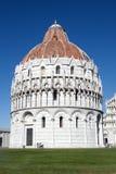 Baptistery av St John Pisa Italy Royaltyfri Bild