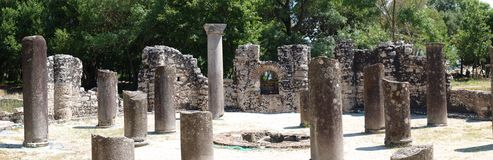 Baptistery bizantino, Butrint, Albânia Imagem de Stock Royalty Free