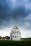The Baptistery of the Cathedral in Pisa Stock Images