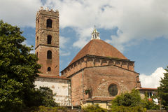 Baptistery and church , Lucca Royalty Free Stock Image