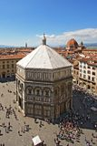Baptistery and the city of Florence Stock Photography