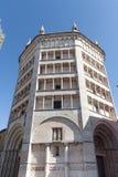 Baptistery de Parma Foto de Stock