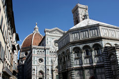 Baptistery and Dome n.3. Famous Baptistery and Dome of Florence Royalty Free Stock Image
