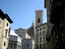 Baptistery and Dome n.5. Famous Baptistery and Dome of Florence Stock Image