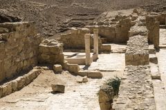 Baptistery - een plaats waar de ingezetenen Christendom in ADVERTENTIE 500 namen stock afbeelding