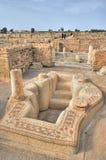 Baptistery em Sbeitla antigo fotos de stock royalty free