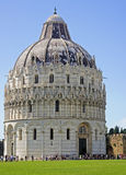 Baptistery in the field of miracles in Pisa Stock Photo