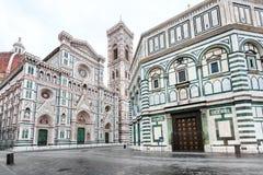 Baptistery i Florencja n Katedralny ranek Obrazy Royalty Free