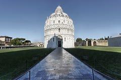 Baptistery-Marktplatz dei Miracoli Pisa Stockbild