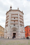 Baptistery op Piazza del Duomo, Parma Royalty-vrije Stock Fotografie