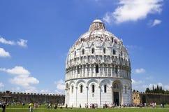 Baptistery in Piazza dei Miracoli in Pisa Stock Image