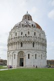 Baptistery in Piazza dei Miracoli, Pisa, Italy Royalty Free Stock Photography