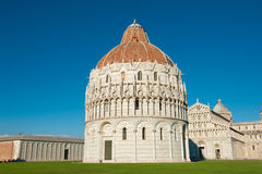 Baptistery in Pisa Royalty Free Stock Images
