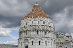 The Baptistery in Pisa Italy Royalty Free Stock Image