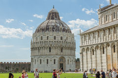 Baptistery in Pisa Royalty Free Stock Photography