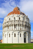 Baptistery in Pisa. Baptistery on Piazza dei Miracoli in Pisa, Italy Royalty Free Stock Image