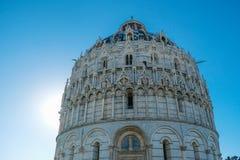 The Baptistery of Pisa stock photos
