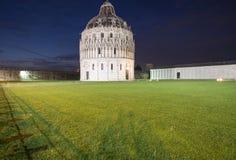 Baptistery of in pisa tuscany italy europe night Stock Photos