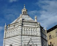 Baptistery in Pistoia Stock Images