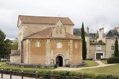 Baptistery in Poitiers, Frankrijk Stock Foto