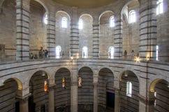 Baptistery of Saint John inside, Pisa, Italy Stock Photos
