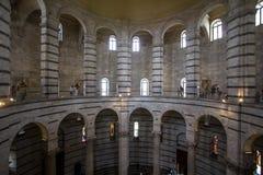 Baptistery of Saint John inside, Pisa, Italy Stock Photo
