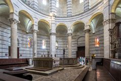 Baptistery of Saint John inside, Pisa, Italy Royalty Free Stock Image