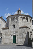 The Baptistery of San Giovanni in Arringo Square is the oldest monumental square of the city of Ascoli Piceno. Royalty Free Stock Photos