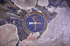 Baptistery of San Giovanni in Fonte at Duomo di San Gennaro. Mosaic at Baptistery of San Giovanni in Fonte in Naples Stock Image
