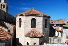 Baptistery of Santa Eufemia in Grado, Italy Royalty Free Stock Photos