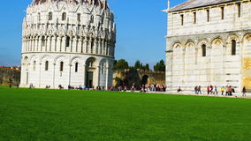Baptistery in the Square of Miracles stock footage