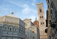Baptistery of St. John and Florence Cathedral, Italy Royalty Free Stock Images